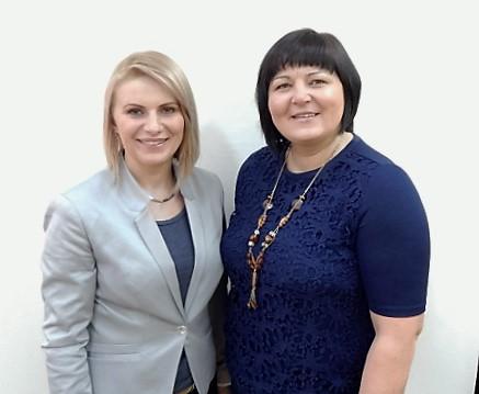 Opiekunki Szkolnego Wolontariatu: pani Monika Morawska i pani Katarzyna Kubasiak.